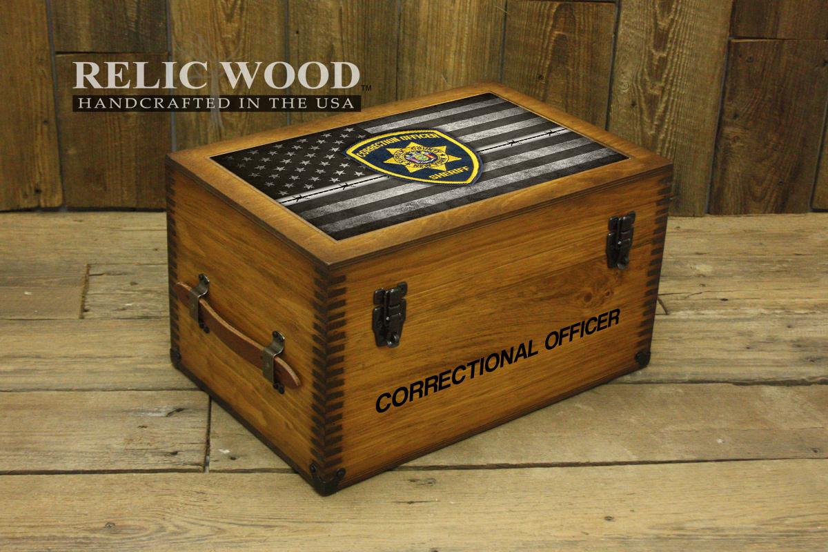 Correctional Officer Badge Keepsake Box