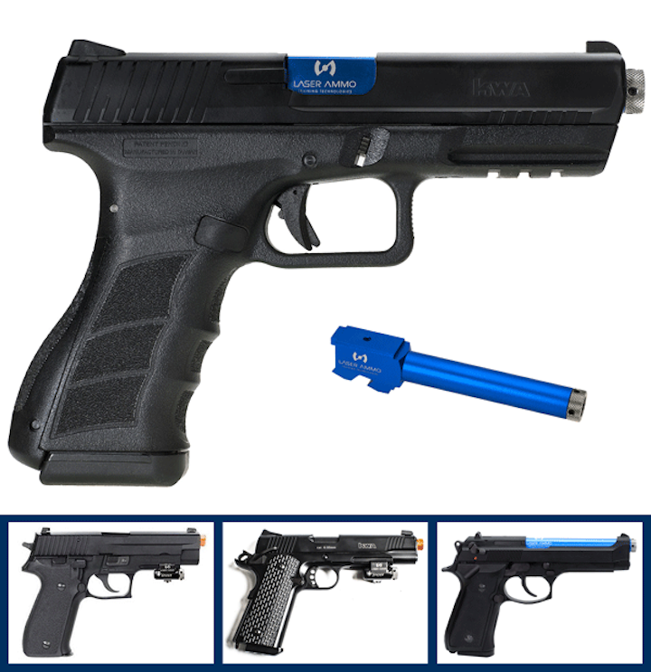 Laser Ammo Introduces Recoil Enabled Airsoft Training Pistols Officer